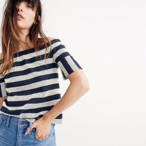 NWT Madewell | off the shoulder stripe top